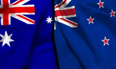 A mix of Australian and NZ flags