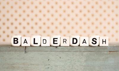 Wooden cubes with BALDERDASH spelt out