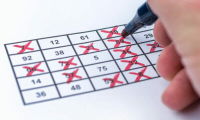 Crosses being marked off a bingo card