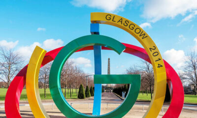 Glasgow 2014 Commonwealth games installation in a park
