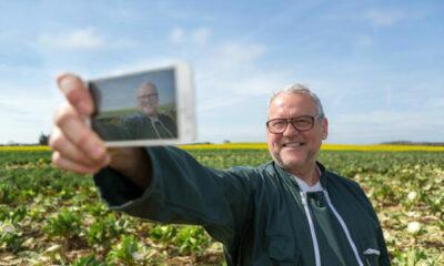 A farmer taking a selfie - a felfie