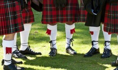 A group of Scottish kilt wearers