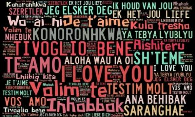 Word cloud with I LOVE YOU in different languages