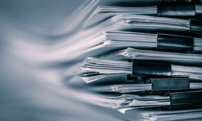 A pile of manuscripts