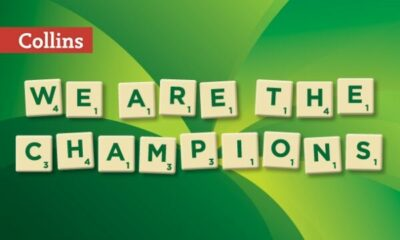 Scrabble tiles, WE ARE THE CHAMPIONS