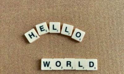 Scrabble tiles: HELLO WORLD