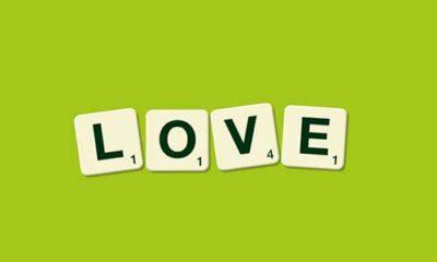 Scrabble tiles : LOVE