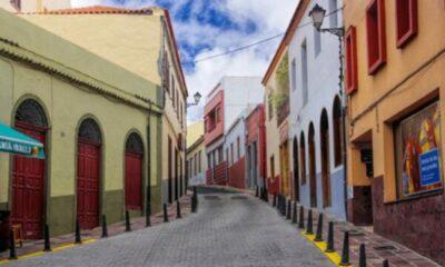 a quiet, empty spanish street
