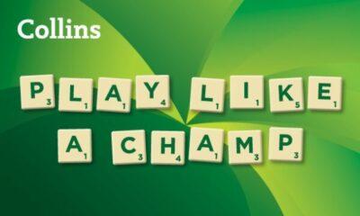Scrabble tiles: PLAY LIKE A CHAMP