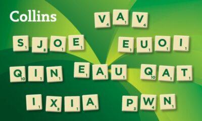 Scrabble tiles with unusual words written