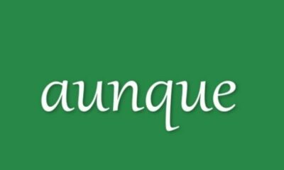 green background with white Spanish text aunque